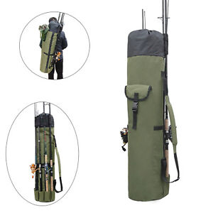 Details about Outdoor Fishing Bag Rod Reel Portable Travel Organizer Tackle Tools Storage Case