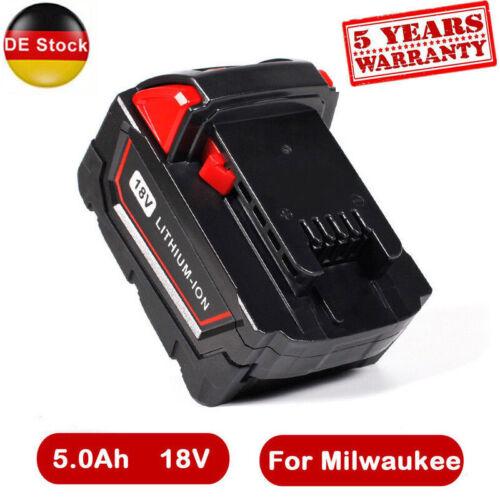 18V 5.0Ah AKKU XC 5.0 für Milwaukee M18 M18B4 48-11-1828 5000mAh Batterie 260722