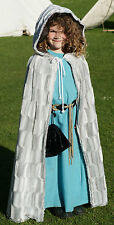 CHILD's Pagan-Hand fasting-Cosplay-LARP-Wicca WINTER Fake Fur CLOAK one size