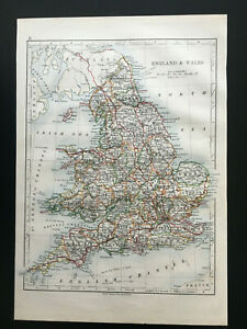 Antique-Map-Of-England-amp-Wales-1892