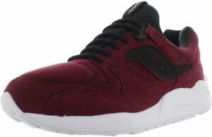 Saucony Mens Grid 9000 HT Low Top Lace Up Fashion Sneakers, Maroon, Size 9.0