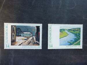 1994-LUXEMBOURG-ARTISTS-SET-2-MINT-STAMPS-MNH