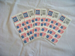 NEW US American Flag Forever Stamps USPS First Class Postage 100 Stamps 5 Books