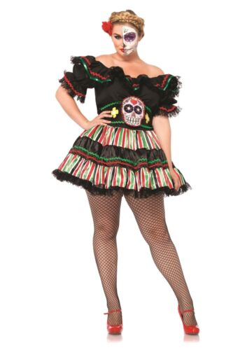 Day of the Dead Doll Adult Womens Plus Size Costume