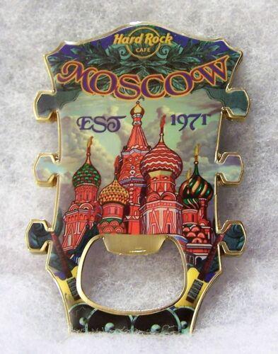 HARD ROCK CAFE MOSCOW BOTTLE OPENER GUITAR HEADSTOCK MAGNET