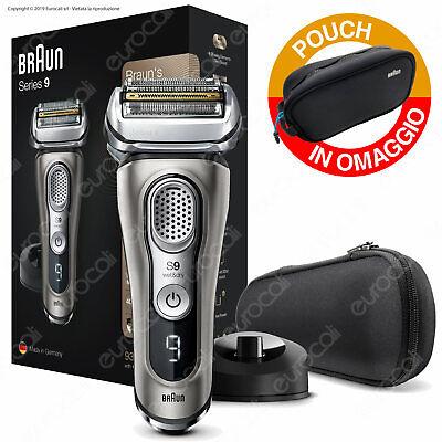Braun Series 9 9325s Rasoio Barba Elettrico Ricaricabile Wet&Dry e Pouch