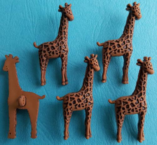 Zoo Animal Africa African Safari Brown Dress It Up Craft Buttons LARGE GIRAFFE