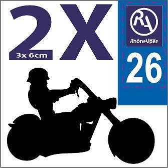 2 stickers style immatriculation AUTO noir et blanc 69 AUVERGNE RHONE ALPES