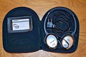Bose-Quiet-Comfort-QC-3-Noise-Cancelling-Headphones-Case-Cable-Adaptor