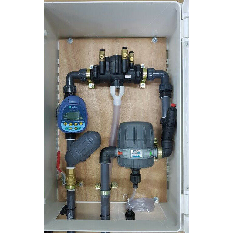 Full Built Drip Watering Irrigation System Set Outdoor Box Cabinet 1 Line 3/4