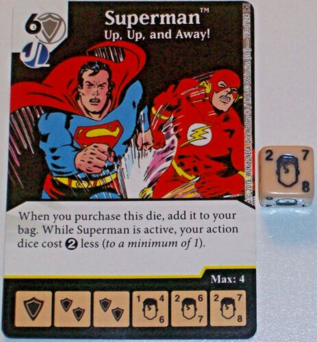 Up 113 Green ARROW & Flash Würfel Master Selten And Away Superman: Up