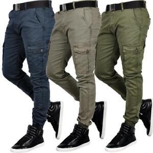 Hommes-Cargo-Pantalon-Jogger-jeanssweathose-Jogg-Decontracte-Militaire-Pantalon-Army
