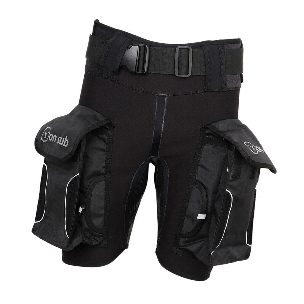 Herren Neopren Shorts Neoprenhose Neoprenanzug Short Hose mit Beintasche