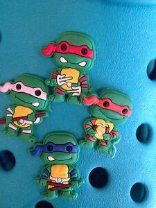 4 Tortugas Ninja Mutantes Adolescentes encantos del zapato Para Crocs Y Jibbitz Pulseras