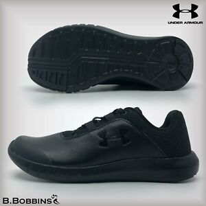 Under-Armour-Mojo-Black-Kids-Trainers-Size-UK-11-12-13-1-2-2-5-Boys-Girls-School