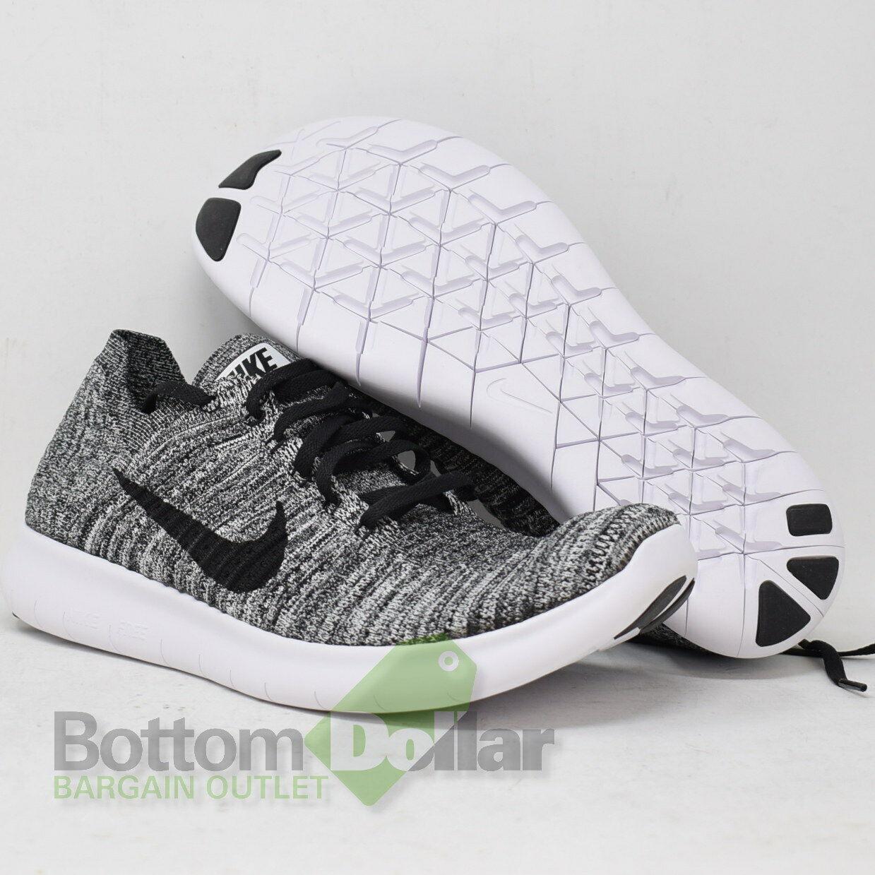 new styles 21f3f 3218d Nike Free RN Flyknit Men s Men s Men s Running shoes 831069-100 White Black  (11