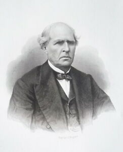 JOHN-W-SPENCER-Vermont-Born-Illinois-Pioneer-amp-Judge-1876-Portrait-Print