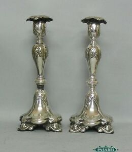 Image is loading WMF-Fraget-Silver-Plated-Candlesticks-Poland-Ca-1900 & WMF Fraget Silver Plated Candlesticks Poland Ca 1900 | eBay