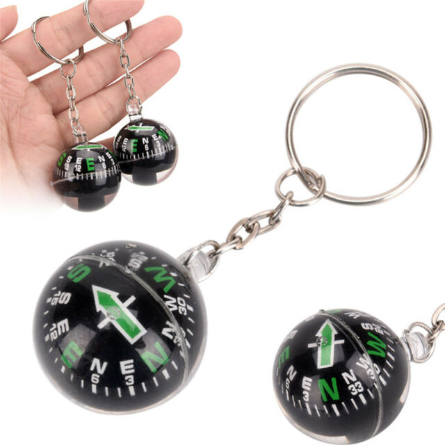 28mm Ball Compass Keychain Navigator Hiking Camping Travel Outdoor Survival SP