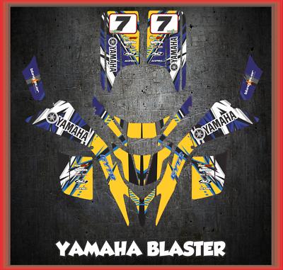 YAMAHA BLASTER YFS 200 GRAPHICS KIT CREATORX DECALS STICKERS BOLT THROWER W