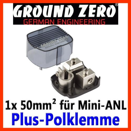 Ground Zero plus polklemme mini-batería centajes borna positivo portafusible