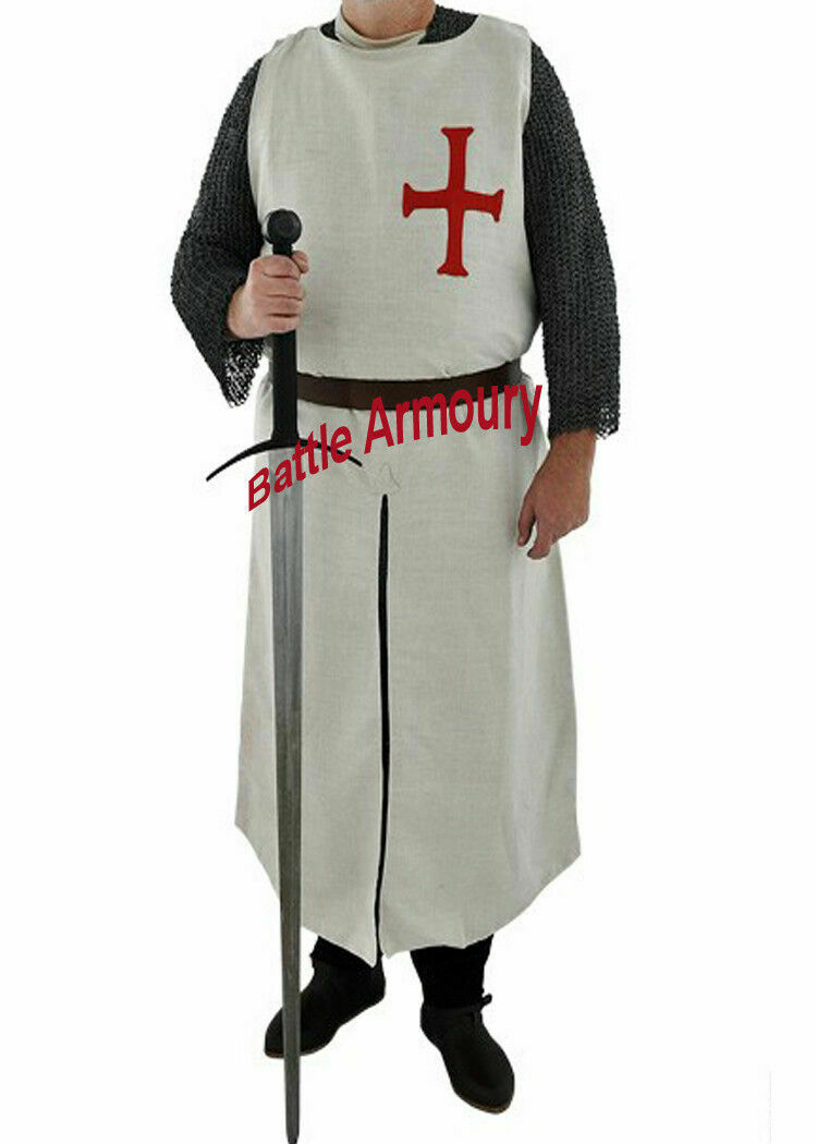 X-Mas Costume Gift Wear Medieval Templer Tunic Knight tabard
