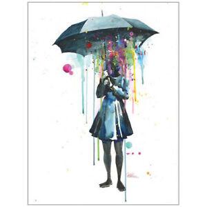 Lora-Zombie-Rainy-Day-ART-PRINT-POSTER-50x70cm-NEW-Grunge-Artist-Watercolour