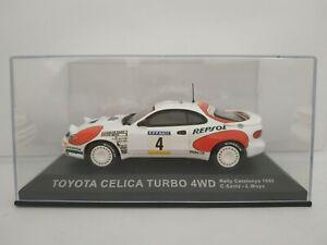 1-43-TOYOTA-CELICA-TURBO-4WD-SAINZ-MOYA-1992-RALLYE-IXO-RALLY-ESCALA-DIECAST