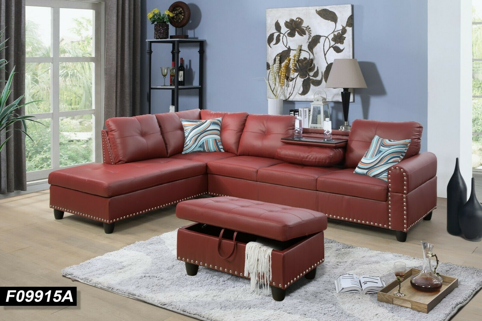 Picture of: Camel Dark Brown Faux Leather Sofa Set W Coffee Table 4p American Eagle Ae D816 For Sale Online Ebay
