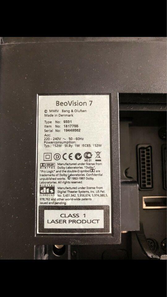 LCD, Bang & Olufsen, Beovision 7