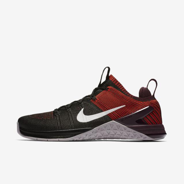Men's Nike Metcon DSX Flyknit 2 Sz 12 Black Grey Red 924423