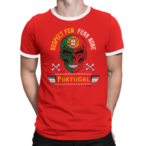 PORTUGAL Mens RESPECT FEW FEAR NONE T-Shirt FOOTBALL World Cup 2018 Mans Sports