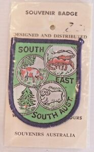 VINTAGE-SOUTH-EAST-SOUTH-AUSTRALIA-EMBROIDERED-SOUVENIR-PATCH-WOVEN-SEW-ON-BADGE