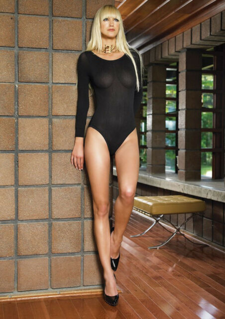 Opaque Long Sleeve Body Suit Ladies Leotard SALE FREE USA SHIPPING  8578