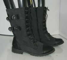 new Blacks  Lace Rugged  Combat  Riding Winter sexy ankle sexy boots Size  7  p