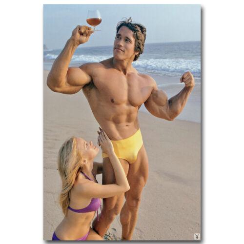 "Bodybuilding Motivational Silk Poster 13x20 24x36"" 028 ARNOLD SCHWARZENEGGER"
