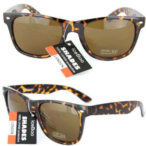 Sunglasses vintage Mens Ladies Unisex retro UV400 Turtle shell Design Sunglass