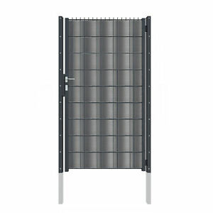 1-83m-blickdichtes-Doppelstabmattenzaun-Tor-mit-Hart-PVC-wie-ein-Blechtor-7016