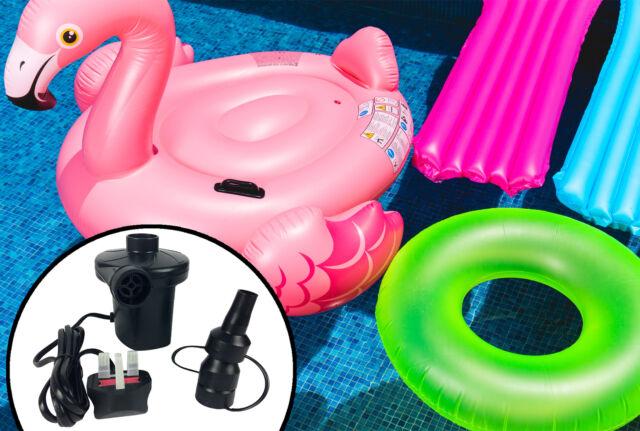 2 in 1 Electric Air Bed Pump Camping Paddling Pool Mains Inflator UK-Plug