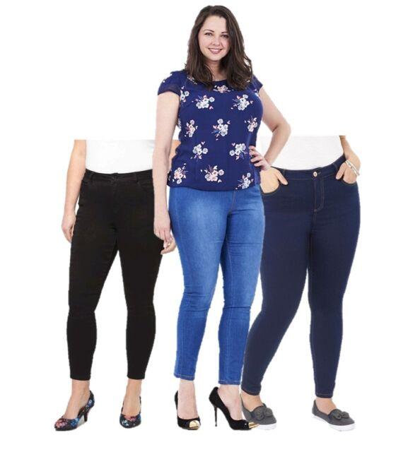 Ex EVANS Mid Wash Bootcut Jeans Size 14-30 Plus Size Denim Ladies RRP £24