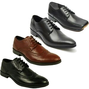 Brand-New-Lucini-Men-039-s-Leather-Smart-Casual-Formal-Lace-Up-Shoes-UK-Size-6-to-12