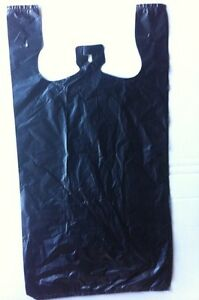 6 cases 30 micron 1 6 t shirt tough plastic retail bags for Bags for t shirt packaging