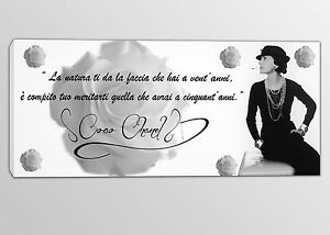 Quadri Moderni Frasi Coco Chanel Stampe Su Tela Arte Moderna