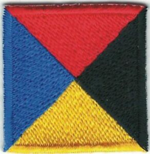 Flag patch embroidered international maritime nautical navy signal P Papa