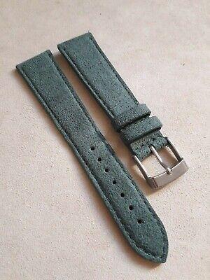 2019 Neuestes Design Armband / Armband Wildleder Für Alle -arten Uhren- Ansatz 20mm Grün Sparen Sie 50-70%