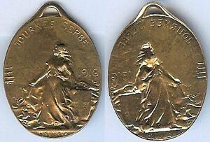 Insigne-de-journees-1914-1918-Journee-Serbe-1916-modele-dore-ovale