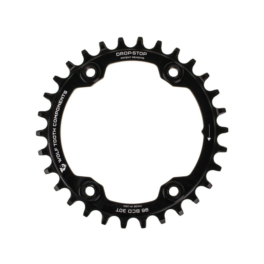 New Wolf Tooth Components Drop-Stop Chainring  30T x 96 BCD for XTR M9000
