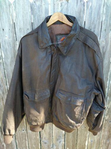 "Vintage Brown ""MIDWAY"" Genuine Leather Jacket Size"
