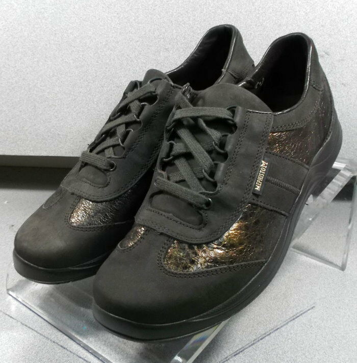 LASER DARK BROWN LMPF60 Women's shoes Size 6.5 6.5 6.5 (EUR 4) Leather Lace Up Mephisto 7b2211