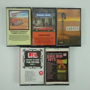 5 Cassette Mix lot of Various Artists Compilations